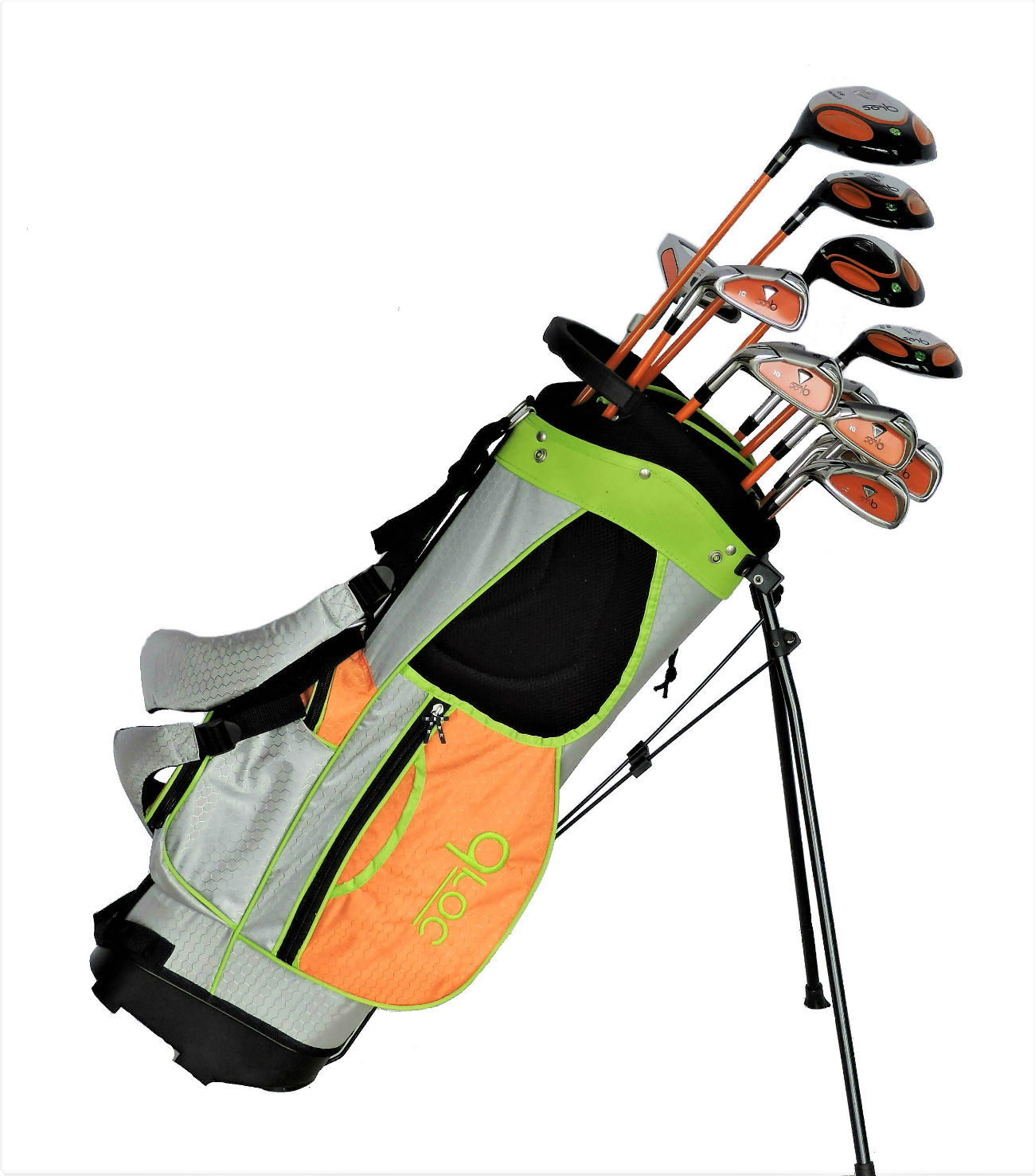 DROC - Dimond Series *13*  Pcs Golf Club Set & Golf Bag Age 9 - 12 Left Handed