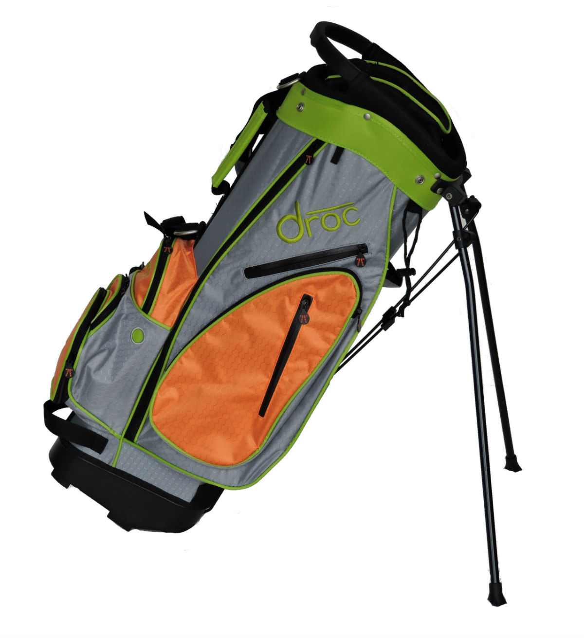 Droc - Dimond Golf Bag Age 10 - 14 (Orange_Lime, 30)