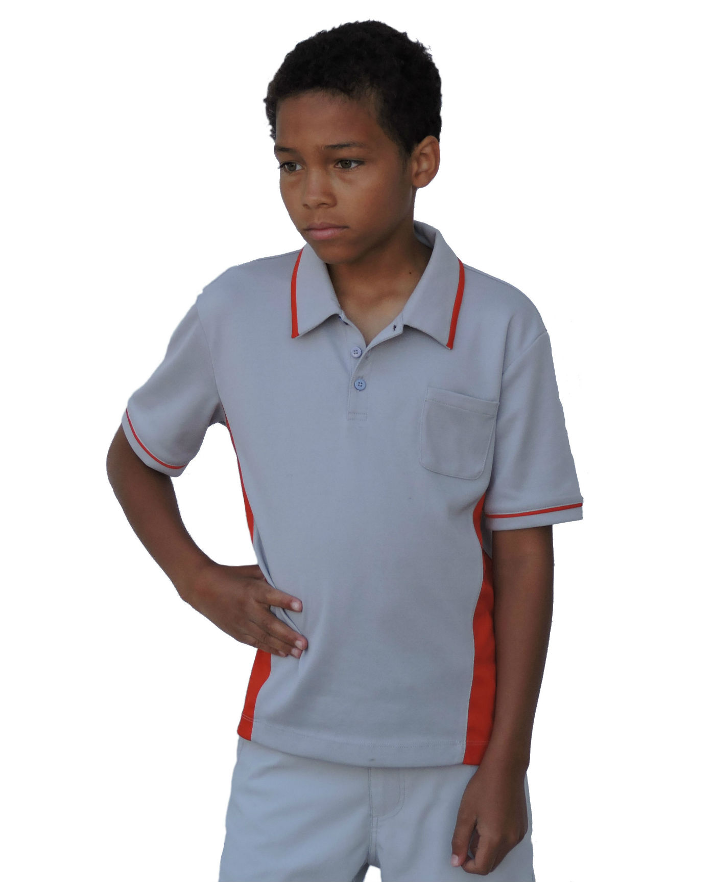 Droc - Dimond Professional Grey and Orange Polo