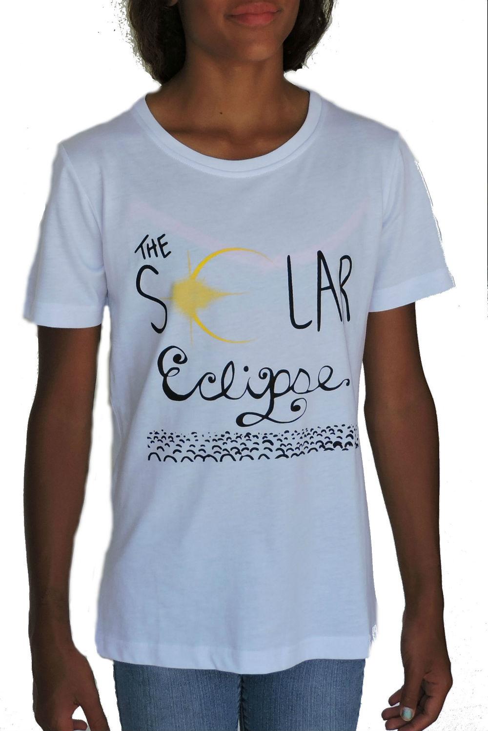 Sephlin - Charity  Girl's Solar Eclipse T-Shirt WHITE