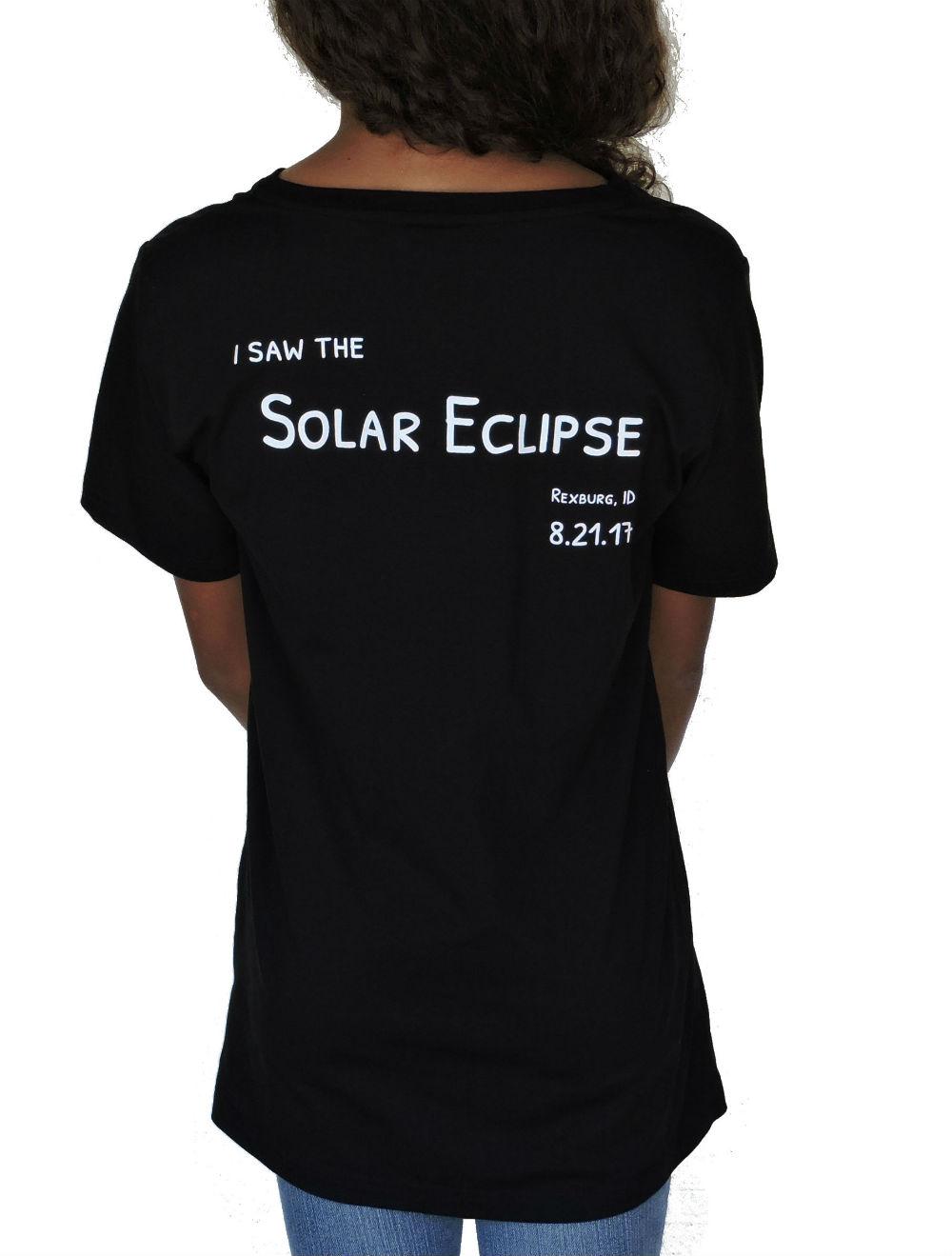 Sephlin - Lady E Girl's Solar Eclipse T-Shirt Black