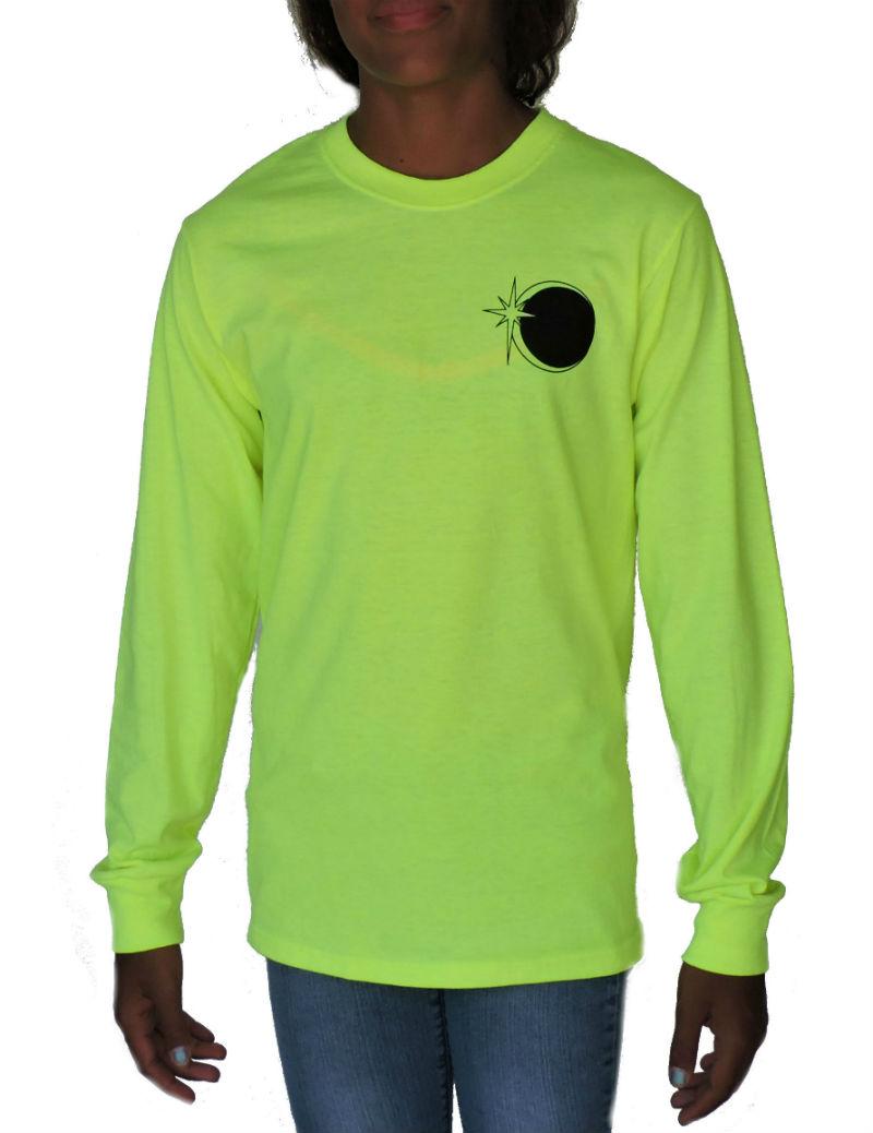 Sephlin - Lady E Girl's Solar Eclipse Sleeved Shirt Lime Green
