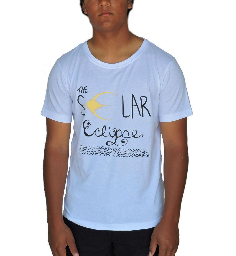 DROC-- Solar Eclipse T- SHIRT White