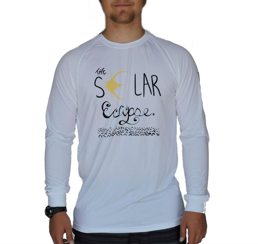 DROC-- Solar Eclipse WHITE SLEEVED SHIRT