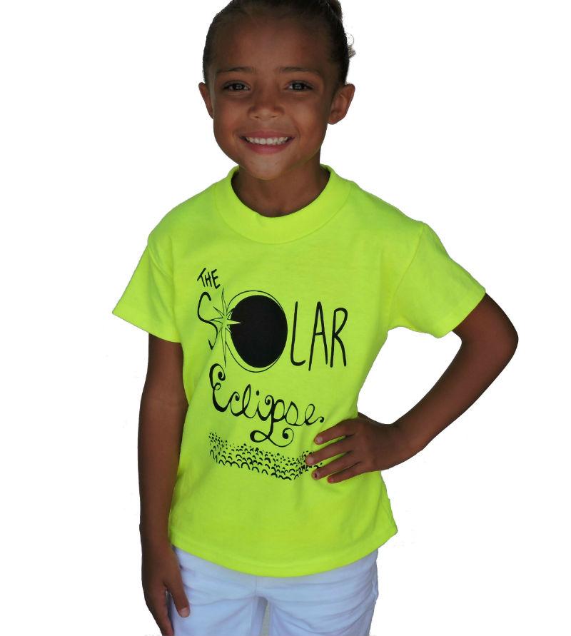 Sephlin - Lady E Girl's Solar Eclipse T-Shirt Lime Green