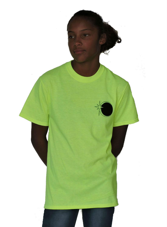 Sephlin -  Solar Eclipse T-Shirt Lime Green