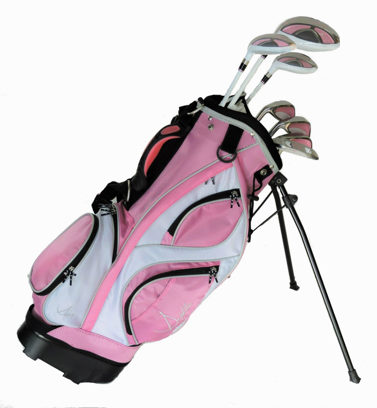 Sephlin - Lady E  7 Pcs Girls Golf Club Set & Pink Bag Ages 3-6 Left Handed