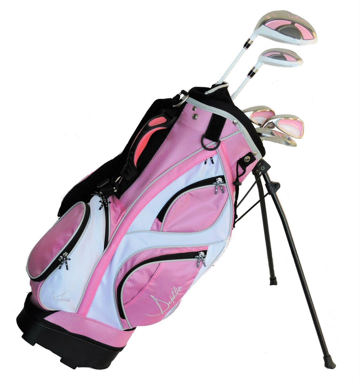 Sephlin - Lady E Girls Pink Golf Set &  Bag *5*  Pcs Club Set Ages 3-6 Left Hand