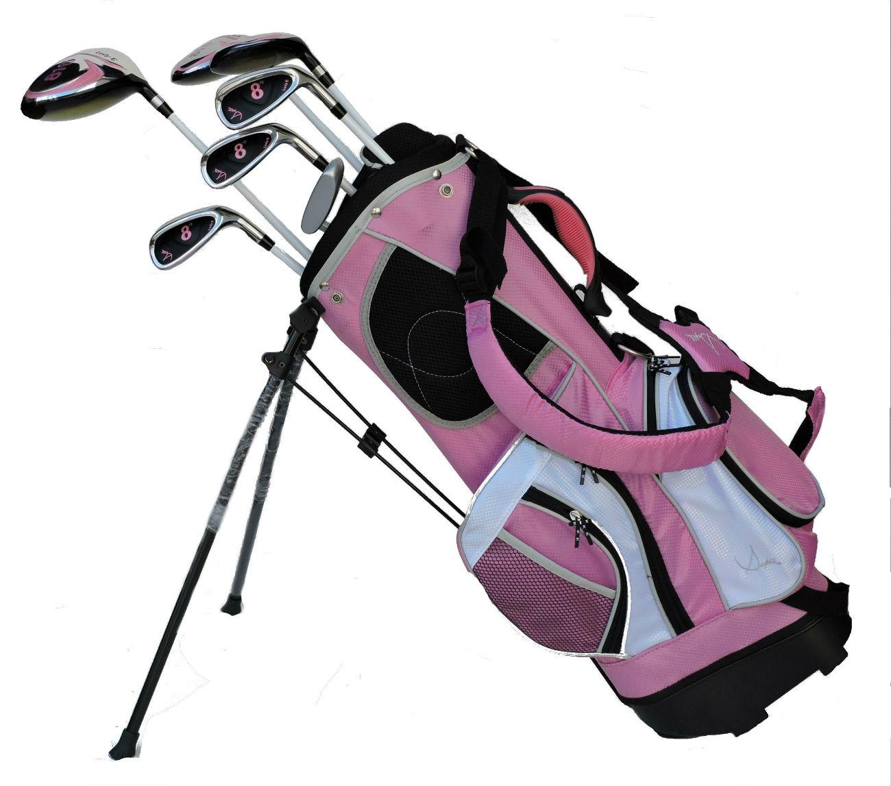 Sephlin - Lady Jayde *7*  Pcs Golf Club Set and Golf Bag Age 6-10 RH