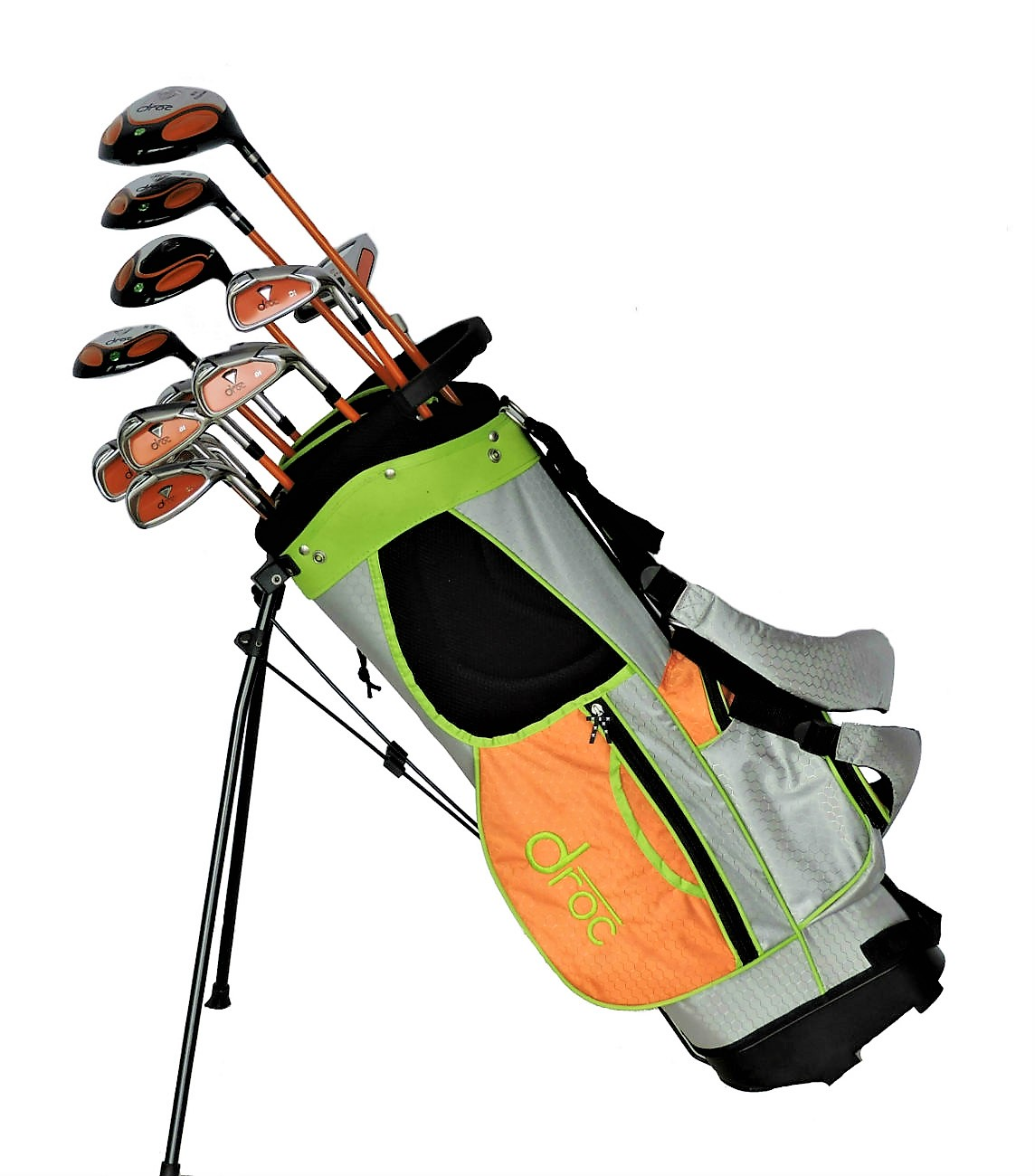 DROC - Dimond Series *13*  Pcs Golf Club Set & Golf Bag Age 9 - 12 Right Handed